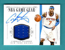 2014/15 Panini National Treasures - Carmelo Anthony - Auto & Relic - #06/25