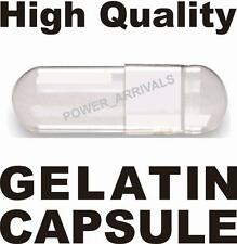 500 EMPTY GELATIN CAPSULES SIZE 00 (Kosher) - Made in KOREA GEL CAP Pill - CLEAR