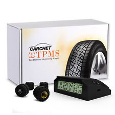 Solar Wireless TPMS Car Tire Tyre Pressure Monitoring System+4 External Sensors