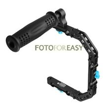 FOTGA DP3000 C-Shape Support Cage Bracket +Top Handle Grip for 15mm Rod DSLR Rig