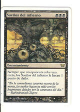 mtg Magic 1x Underworld Dreams (Sueños del infierno) Spanish Ninth Edition GOOD