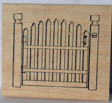 GATE WOOD MOUNT Uget PHOTO#2Retired L@@K@ examples ART IMPRESSIONS RUBBER STAMPS
