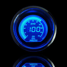 "Universal 2"" 52mm Blue Red Oil Pressure Car Digital LED Light Gauge Meter Psi"