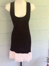 Young Fabulous & Broke Racerback Mini Dress Black White Red Dots Small NWT$172