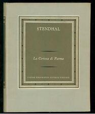 STENDHAL LA CERTOSA DI PARMA UTET 1960 I GRANDI SCRITTORI STRANIERI VII-163