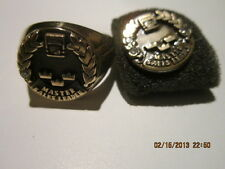 Volvo Heavy truck diamond and gold  sales award ring and pin