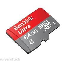 Sandisk Ultra 64GB MicroSDHC class 10 with Adaptor