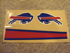 BUFFALO BILLS FULL SIZE FOOTBALL HELMET DECALS W/STRIPE & BUMPERS