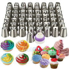 57 Pcs Russian Flower Icing Piping Nozzles Cake Decoration Tips Baking Tools kit