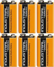 Duracell Industrial Alkaline 9v Battery - Pack of 6