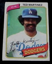 Ted Martinez, Dodgers,  1980  #191 Topps Baseball Card GD COND