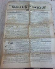 Giornale di Sicilia officiale anno XII n° 235 (15 ottobre 1874) bollo Palermo 1c