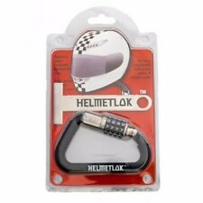 HelmetLok Gen 2 II Helmet Combination Lock w/ T-Bar Rubber Motorcycle Carabiner