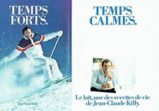 PUBLICITE ADVERTISING 0217  1982  le lait (2pages) Jean-Claude Killy