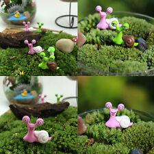 Garden Ornament Miniature Snail Figurine Resin Craft Fairy Dollhouse Decor Nice