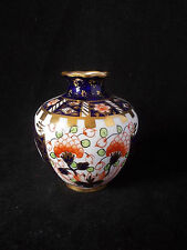 ROYAL CROWN DERBY WITCHES PATTERN MINIATURE VASE DATED 1923