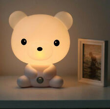 NEW Cartoon Polar Bear Baby Room Bear Cartoon Night Sleeping Light Lamp