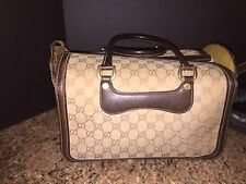 "RARE Vintage AUTHENTIC GUCCI Make-up Travel Case Hardcase 12 1/2"" L x 8""Tall x 8"