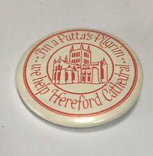 Vintage Hereford Cathedral Badge - Puttas Pilgrim VGC