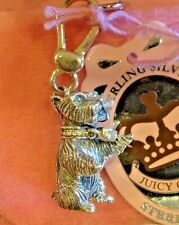 NWT 2007 JUICY COUTURE STERLING SILVER YORKIE CHARM EXTREMELY RARE!!!!