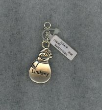 Snowman Charm - Zipper Pull - Crafts - Pendant - Backpack - Personalized Lindsey