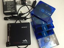 Sony MZ-RH1 Mini disc Recorders with 5 Hi-MDs and Accessories.