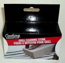 "Cooking Concepts GRILL CLEANING STONE 4"" x 1 3/8"" x 2 1/4"" New In Box"
