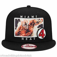 New Era NBA 9Fifty Marvel Mens Black Snapback Miami Heat / The Flame