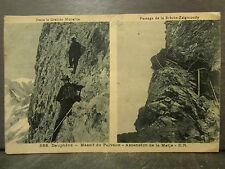 cpa 38 massif du pelvoux ascension de la meije alpiniste alpinisme