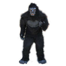 Gorilla Ape Monkey Adult Halloween Costume Mask Gloves Chest Legs & Feet