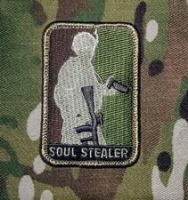 SOUL STEALER US ARMY MILITARY TACTICAL BADGE CAMO VELCRO® BRAND FASTENER PATCH