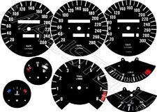 Tachoscheiben für BMW E30  als  260 280 oder 300km/h kompletter Satz