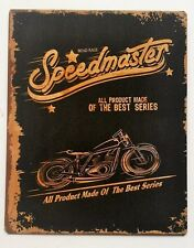Vintage Retro Black/Gold Triumph Speedmaster Motorbike Metal Plaque/Sign 25x20cm