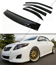 2009-13 TOYOTA COROLLA JDM SMOKE TINTED REAR ROOF + DOOR WINDOW VISOR 5PC COMBO