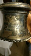 1910 antique Shaving Cup/Mug with swivel mirror & insert, RARE 1915 BOY SCOUTS