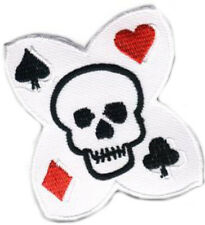 Gambling poker Skull calavera Patch/patch rockabilly