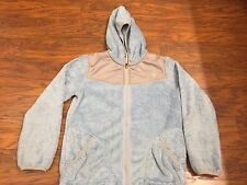 Girl's the North Face Oso jacket light blue / gray size L Large (14/16) hooded