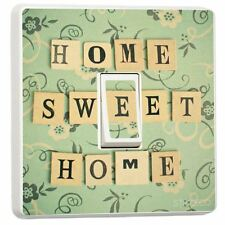 Home Sweet Home Design Single Light Switch Cover Adhesive Vinyl Sticker Decor