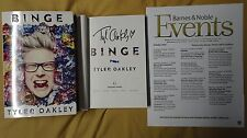 New SIgned Tyler Oakley Binge 1/1 DJ HC Flier Book YouTube Humor Michigan Video