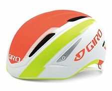 Giro Air Attack Cycling Helmet (Matte White/Flame/Lime / (L) Large)
