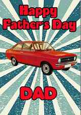 Ford Escort Happy Father's Day A5 Personalised Greeting Card CAR PIDFE1
