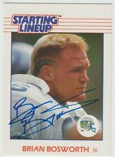 Brian Bosworth AUTOGRAPH 1988 STARTING LINEUP ROOKIE FOOTBALL CARD SIGNED