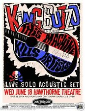 KING BUZZO 2014 PORTLAND CONCERT TOUR POSTER - The Melvins, Doom Metal Music