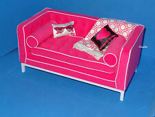 BARBIE Furniture JONATHAN ADLER 50th Anniversary Modern Sofa Couch Pillows MINT