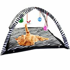 Cat Toys Activity Tent with Hanging Toy Balls Exercise & Stay Active Cat Bed