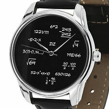 Backwards Reverse Quartz Wrist Watch MATH Arithmetic Personalized Teacher Gift