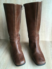 Rieker Ladies Brown Leather Knee Length Boots Size 5, Euro 38