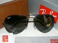 Authentic Ray-Ban Aviator 3026 L2821 Large Metal II G15 62mm Black Fram Sunglass