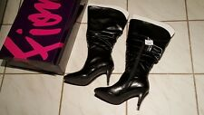 Women's Black Boots Fioni Extended Width Calf WW Tracey Knee High Size 8