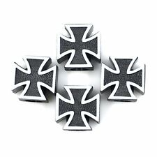 4X Iron Cross Wheel Rim Tire Pressure Air Stem Valve Caps For Car Truck Bike New